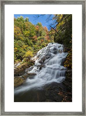 Glen Falls North Carolina Vertical Framed Print by Andres Leon