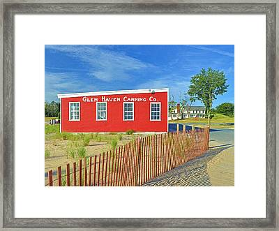 Glen Haven Canning Co. Framed Print