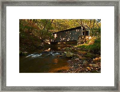 Glen Hope Covered Bridge Framed Print