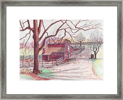 Glen Magna Animal Barn Framed Print