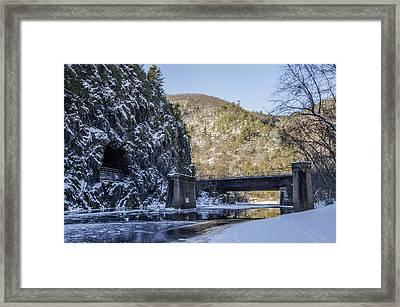 Glen Onoko Park - Lehigh River Framed Print by Bill Cannon