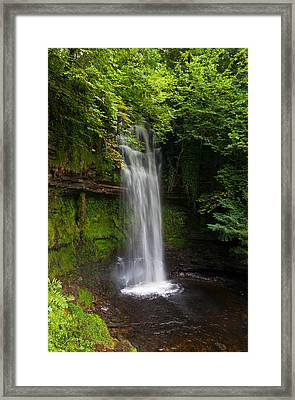 Glencar Waterfall Is Situated Framed Print