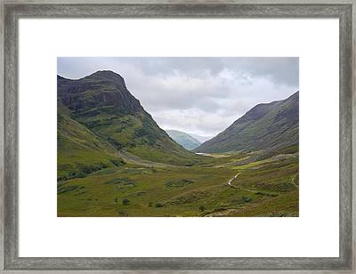 Glencoe Highlands Of Scotland Framed Print