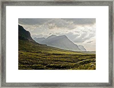 Framed Print featuring the photograph Glencoe Scotland by Sally Ross