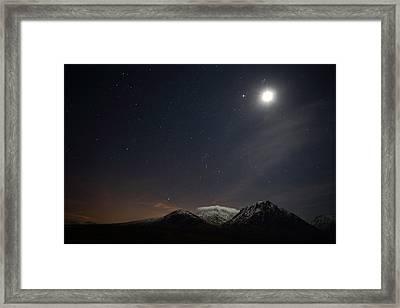 Glencoe Skyscape Framed Print