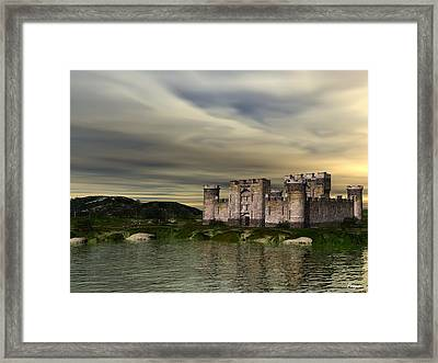 Glendor Castle Framed Print by John Pangia