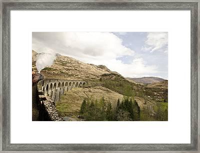 Glenfinnan Train Viaduct Scotland Framed Print