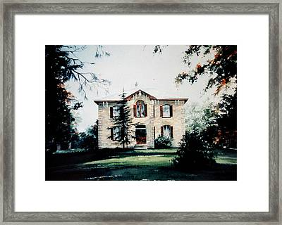 Glenmorris Farmhouse Framed Print by Hanne Lore Koehler