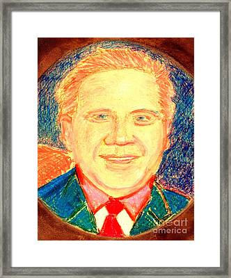 Framed Print featuring the painting Glenn Beck Controversy by Richard W Linford