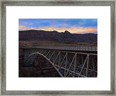Glenn Canyon Bridge Framed Print by Laura Ragland