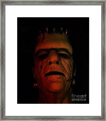 Glenn Strange As Frankenstein Mask Framed Print
