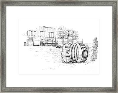 Glenora Winery Framed Print by Steve Knapp