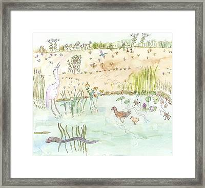 Framed Print featuring the painting Glenwood Landing by Helen Holden-Gladsky