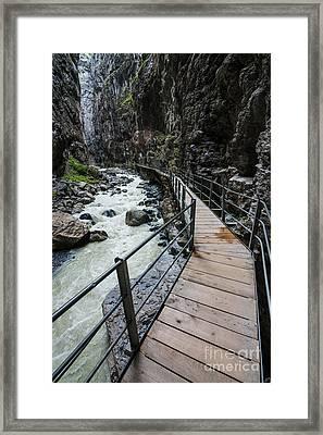 Gletscherschluct Grindelwald - Weisse Lutschine  Framed Print by Gary Whitton