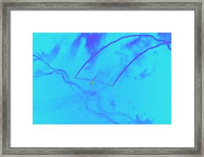 Glider Aerobatics Pop Art Framed Print by Keith Webber Jr