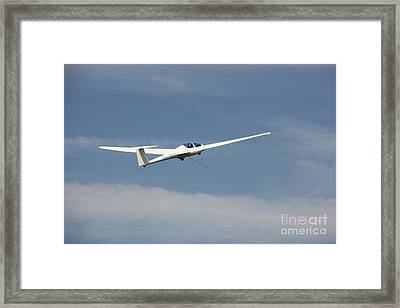 Glider In The Sky Framed Print by Jackie Mestrom