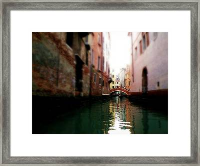 Gliding Along The Canal  Framed Print