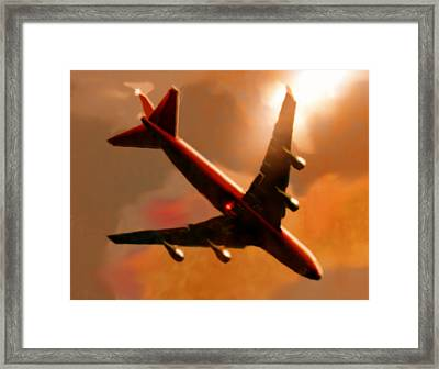 Gliding Framed Print by Marcello Cicchini