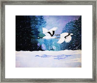 Framed Print featuring the painting Gliding Shadows by Al Brown