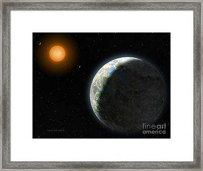 Gliese 581 G Framed Print by Lynette Cook