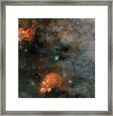 Gliese 667 Triple-star System Framed Print by Eso/digitized Sky Survey 2. Acknowledgement: Davide De Martin