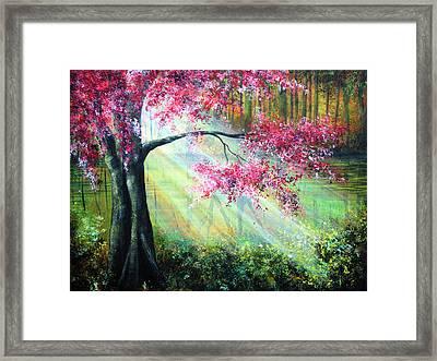 Glimmer Framed Print by Ann Marie Bone