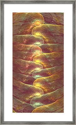 Glimmering Lights Framed Print by Anastasiya Malakhova