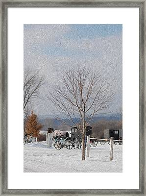 Glimps Of Another Way Of Lfe Framed Print