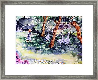 Glimpse Into A Garden  Framed Print by Trudi Doyle