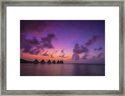 Glimpse Of Heaven Framed Print by Aaron Bedell