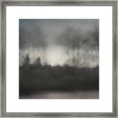 Glimpse Of The Willamette Framed Print by Carol Leigh