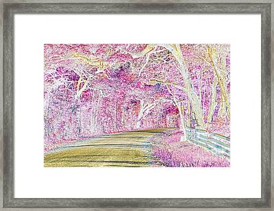 Glinda The Good Witch's Neighborhood Framed Print by Delilah Downs