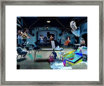 Framed Print featuring the photograph Glisten Rehearsal by David Coblitz