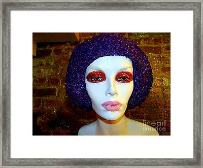 Glitter Gal Framed Print by Ed Weidman