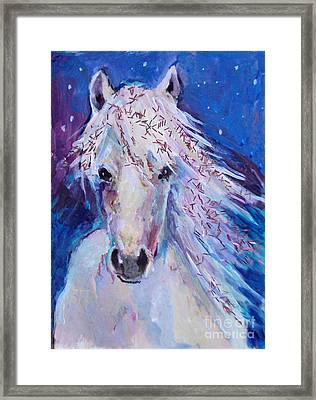Glitter Horse Framed Print by Diane Ursin