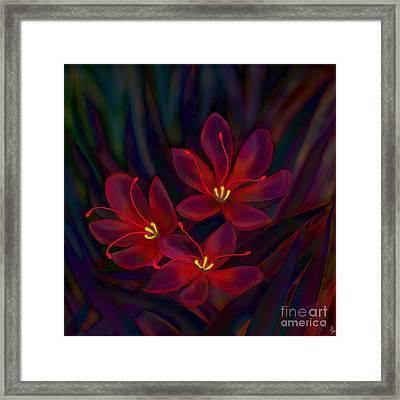 Glitter Framed Print by Latha Gokuldas Panicker