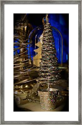 Glitter Tree - Christmas  Framed Print