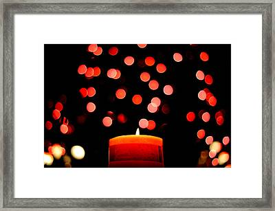 Glittering Lights Framed Print