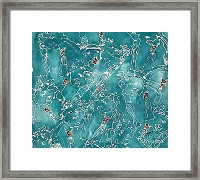 Glittering World Framed Print by Barb Maul