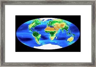 Global Biosphere Framed Print by Nasa's Goddard Space Flight Center