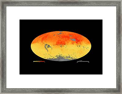 Global Carbon Monoxide Levels Framed Print
