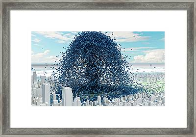 Global Co2 Emission Rate Framed Print by Adam Nieman