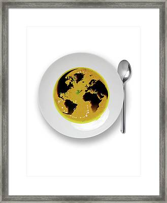 Global Cuisine Framed Print by Smetek