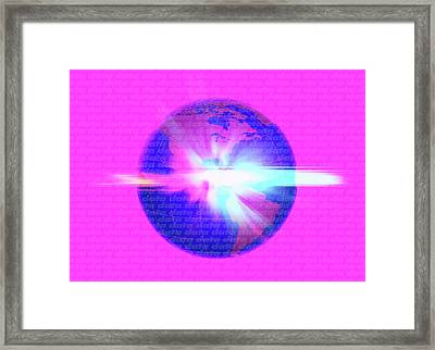Global Data Framed Print by Victor Habbick Visions