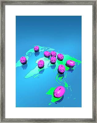 Global Economy Framed Print