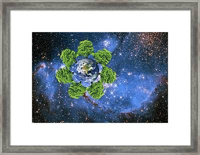 Global Environment Framed Print by Victor De Schwanberg