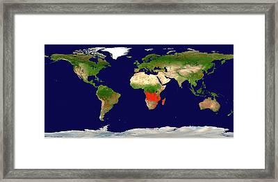 Global Fire Map Framed Print