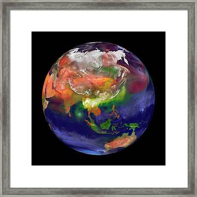 Global Fires Framed Print