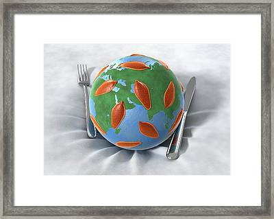 Global Food Infection Framed Print by Animated Healthcare Ltd