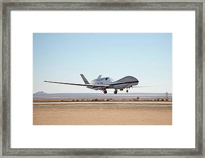 Global Hawk Unmanned Aerial Vehicle Framed Print by Nasa/jim Ross
